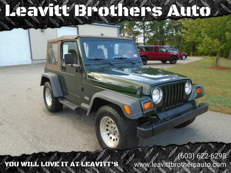 1997 Jeep Wrangler for sale at Leavitt Brothers Auto in Hooksett NH