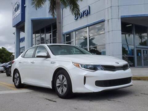 2017 Kia Optima Hybrid for sale at DORAL HYUNDAI in Doral FL