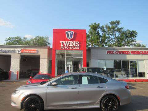 2016 Chrysler 200 for sale at Twins Auto Sales Inc in Detroit MI
