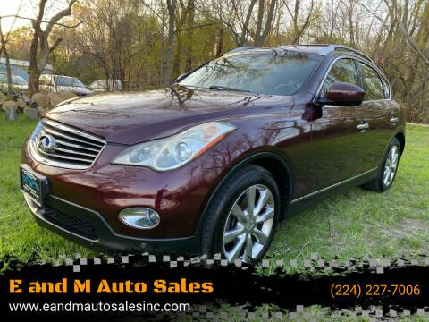 2011 Infiniti EX35 for sale at E and M Auto Sales in Elgin IL
