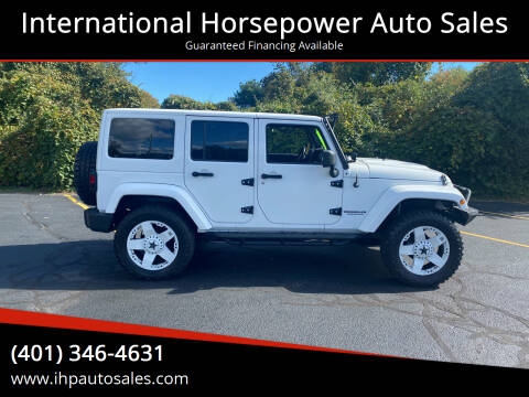 2011 Jeep Wrangler Unlimited for sale at International Horsepower Auto Sales in Warwick RI