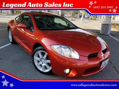 2006 Mitsubishi Eclipse for sale at Legend Auto Sales Inc in Lemon Grove CA