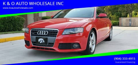 2010 Audi A4 for sale at K & O AUTO WHOLESALE INC in Jacksonville FL