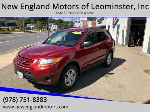 2011 Hyundai Santa Fe for sale at New England Motors of Leominster, Inc in Leominster MA