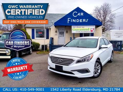 2015 Hyundai Sonata for sale at CAR FINDERS OF MARYLAND LLC - Certified Cars in Eldersburg MD