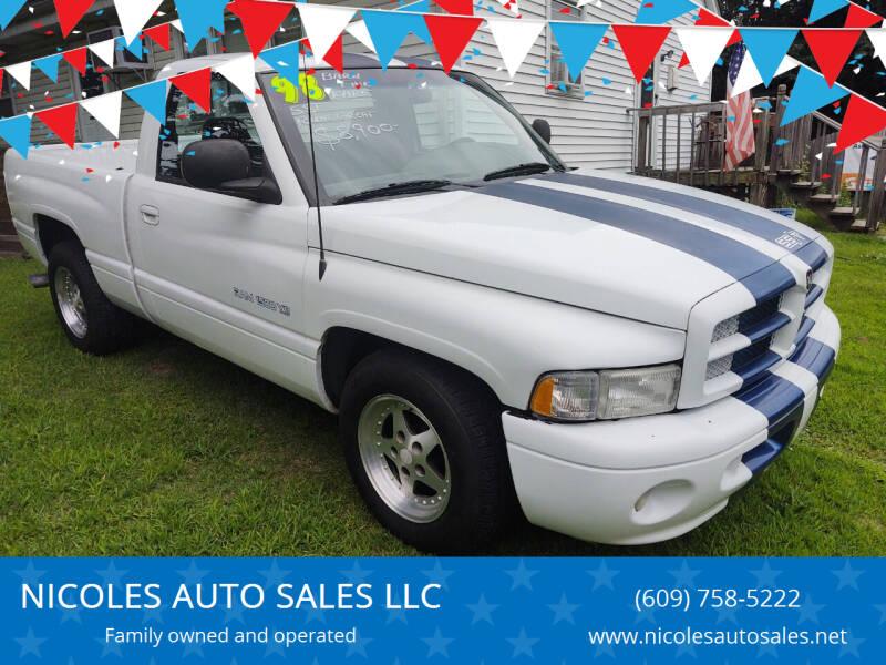 1998 Dodge Ram Pickup 1500 for sale at NICOLES AUTO SALES LLC in Cream Ridge NJ