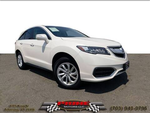 2018 Acura RDX for sale at PRIME MOTORS LLC in Arlington VA