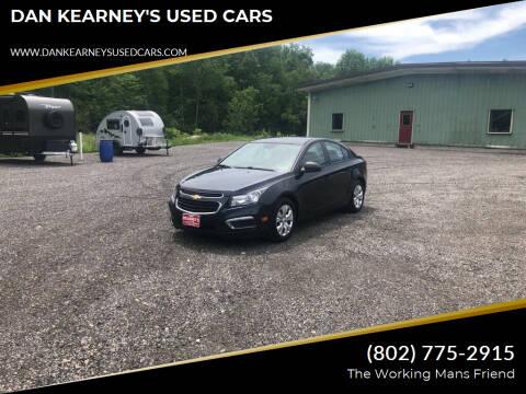 2015 Chevrolet Cruze for sale at DAN KEARNEY'S USED CARS in Center Rutland VT