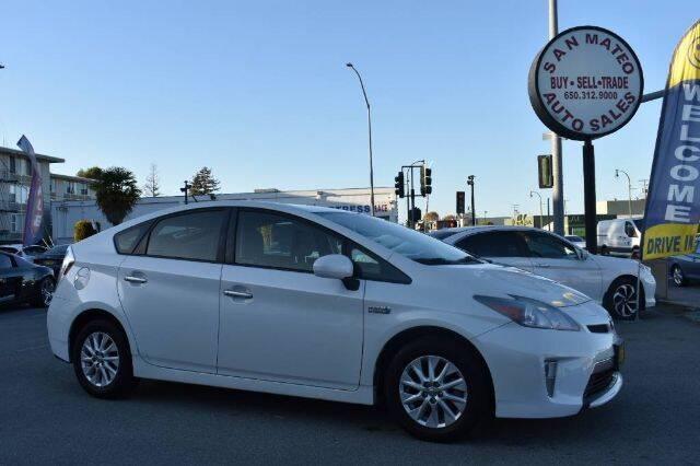 2013 Toyota Prius Plug-in Hybrid for sale at San Mateo Auto Sales in San Mateo CA
