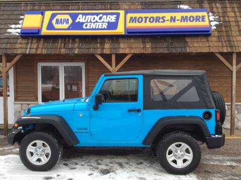 2017 Jeep Wrangler for sale at MOTORS N MORE in Brainerd MN