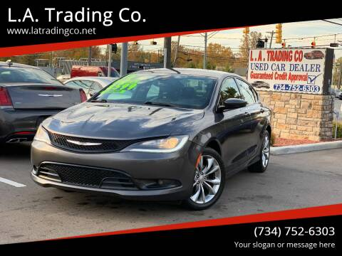 2015 Chrysler 200 for sale at L.A. Trading Co. in Woodhaven MI