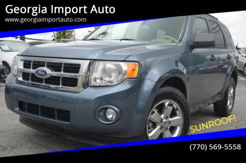 2011 Ford Escape for sale at Georgia Import Auto in Alpharetta GA