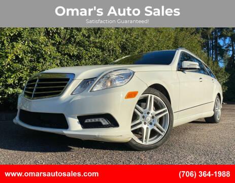 2011 Mercedes-Benz E-Class for sale at Omar's Auto Sales in Martinez GA
