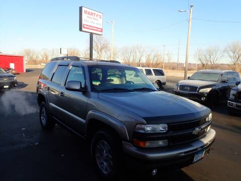 2002 Chevrolet Tahoe for sale at Marty's Auto Sales in Savage MN