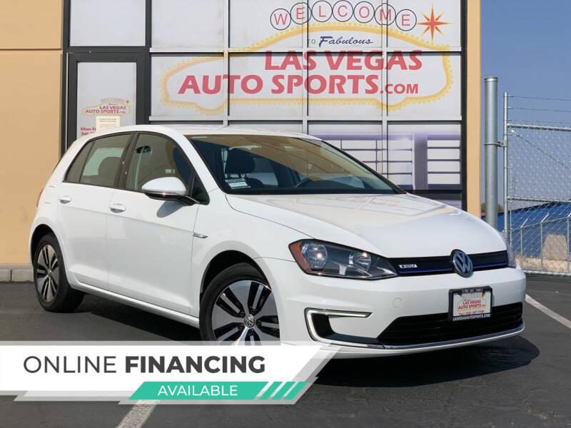 2016 Volkswagen e-Golf for sale at Las Vegas Auto Sports in Las Vegas NV