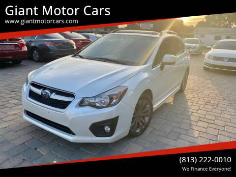 2014 Subaru Impreza for sale at Giant Motor Cars in Tampa FL
