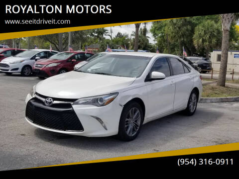 2017 Toyota Camry for sale at ROYALTON MOTORS in Plantation FL