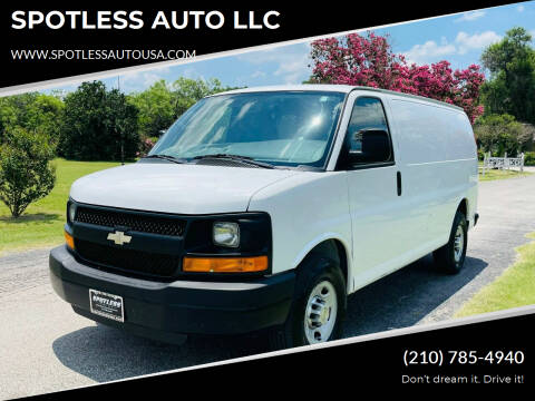2013 Chevrolet Express Cargo for sale at SPOTLESS AUTO LLC in San Antonio TX