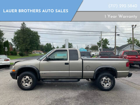 2000 Chevrolet S-10 for sale at LAUER BROTHERS AUTO SALES in Dover PA