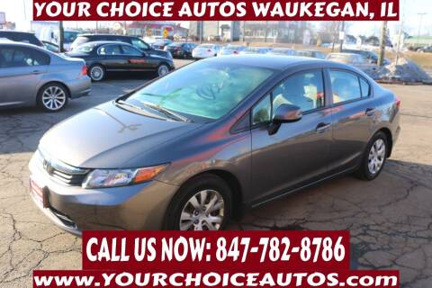 2012 Honda Civic for sale at Your Choice Autos - Waukegan in Waukegan IL