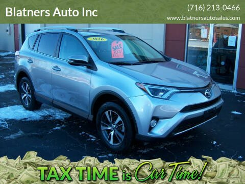 2016 Toyota RAV4 for sale at Blatners Auto Inc in North Tonawanda NY