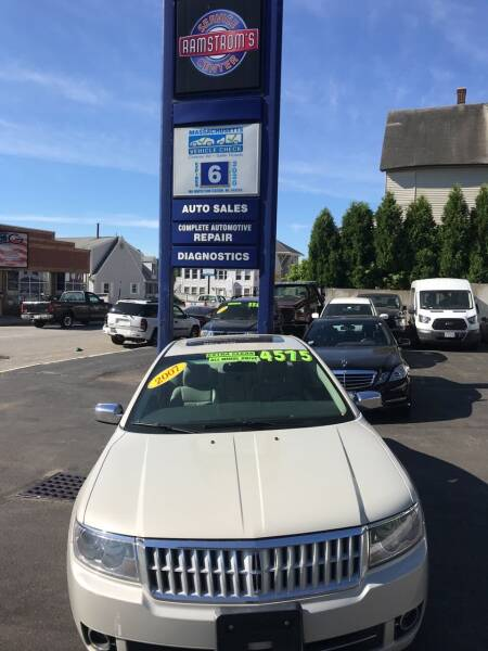 2007 Lincoln MKZ for sale at Ramstroms Service Center in Worcester MA