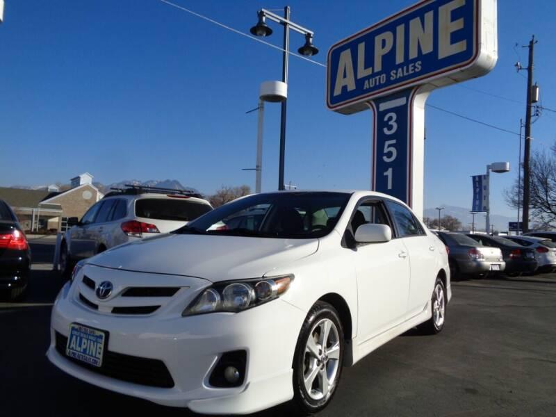 2011 Toyota Corolla for sale at Alpine Auto Sales in Salt Lake City UT