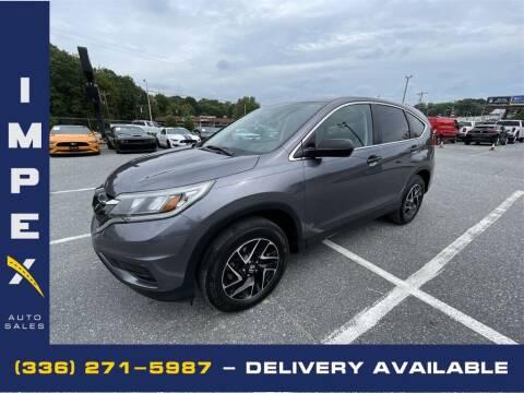 2016 Honda CR-V for sale at Impex Auto Sales in Greensboro NC