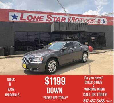 2014 Chrysler 300 for sale at LONE STAR MOTORS II in Fort Worth TX