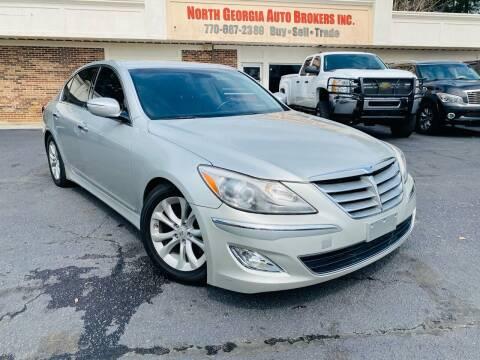 2012 Hyundai Genesis for sale at North Georgia Auto Brokers in Snellville GA