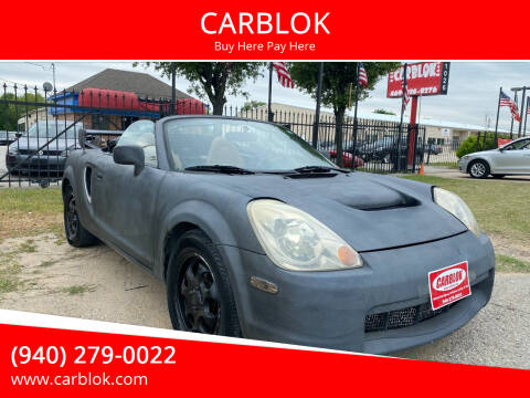 2003 Toyota MR2 Spyder for sale at CARBLOK in Lewisville TX