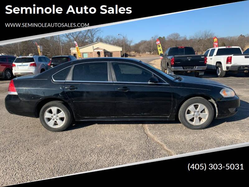 2010 Chevrolet Impala for sale at Seminole Auto Sales in Seminole OK