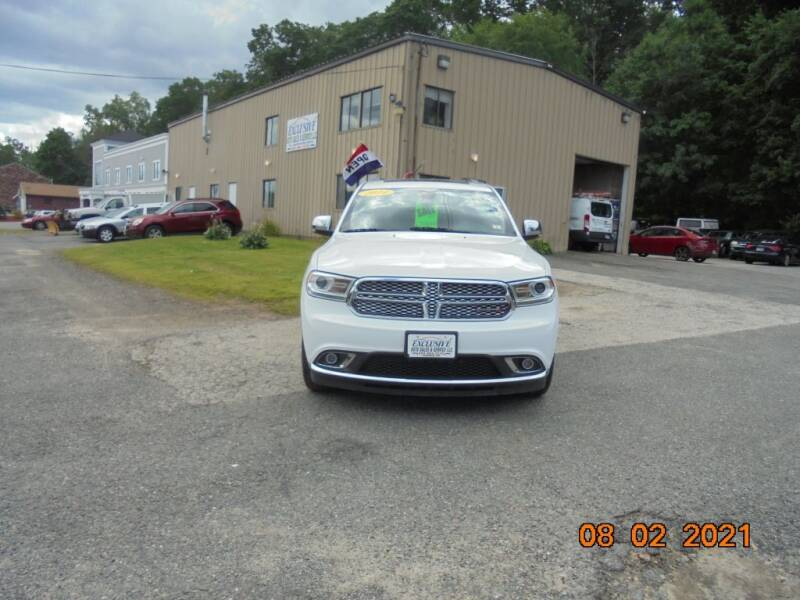 2014 Dodge Durango for sale at Exclusive Auto Sales & Service in Windham NH
