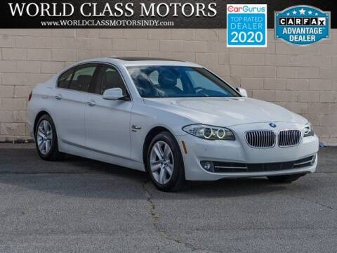 2012 BMW 5 Series for sale at World Class Motors LLC in Noblesville IN