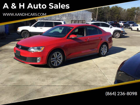 2012 Volkswagen Jetta for sale at A & H Auto Sales in Greenville SC