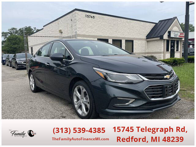 2018 Chevrolet Cruze for sale at The Family Auto Finance in Redford MI