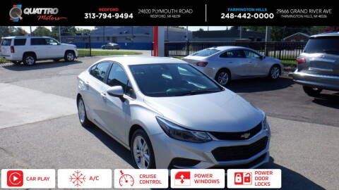 2016 Chevrolet Cruze for sale at Quattro Motors 2 in Farmington Hills MI