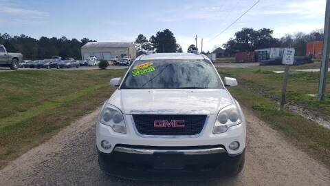2012 GMC Acadia for sale at Auto Guarantee, LLC in Eunice LA