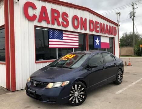 2009 Honda Civic for sale at Cars On Demand 2 in Pasadena TX