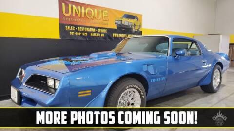 1978 Pontiac Trans Am for sale at UNIQUE SPECIALTY & CLASSICS in Mankato MN