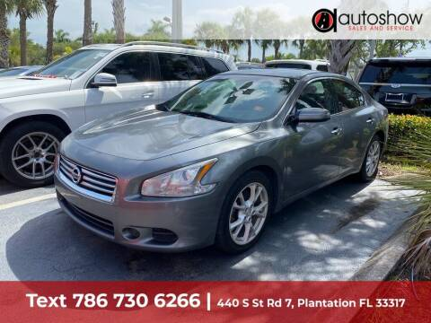 2014 Nissan Maxima for sale at AUTOSHOW SALES & SERVICE in Plantation FL