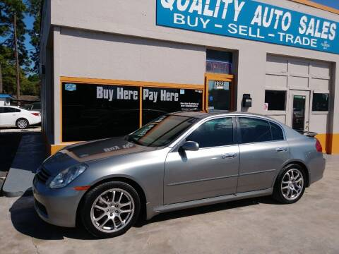 2005 Infiniti G35 for sale at QUALITY AUTO SALES OF FLORIDA in New Port Richey FL