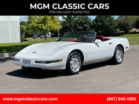 1992 Chevrolet Corvette for sale at MGM CLASSIC CARS-New Arrivals in Addison IL