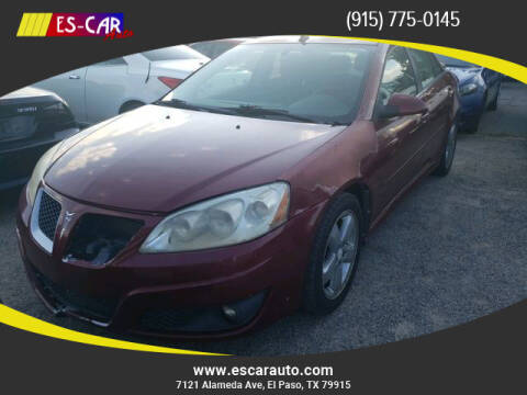 2010 Pontiac G6 for sale at Escar Auto in El Paso TX