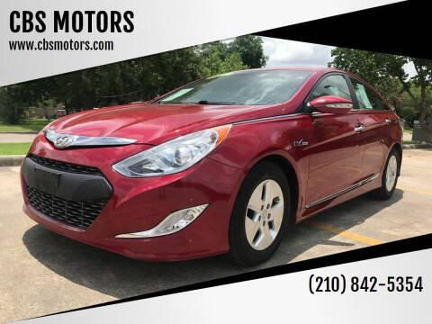 2012 Hyundai Sonata Hybrid for sale at CBS MOTORS in San Antonio TX