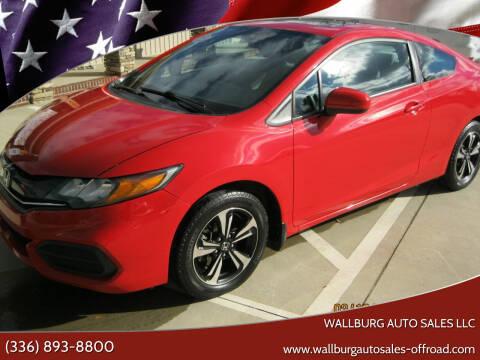 2014 Honda Civic for sale at WALLBURG AUTO SALES LLC in Winston Salem NC