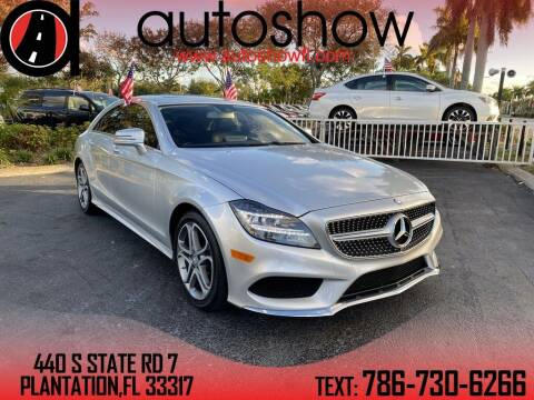 2015 Mercedes-Benz CLS for sale at AUTOSHOW SALES & SERVICE in Plantation FL