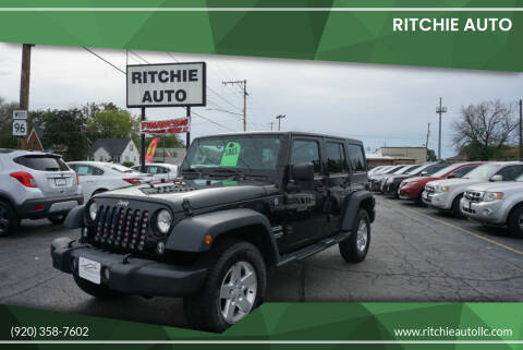 2014 Jeep Wrangler Unlimited for sale at Ritchie Auto in Appleton WI