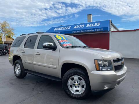 2007 Chevrolet Tahoe for sale at Gonzalez Auto Sales in Joliet IL