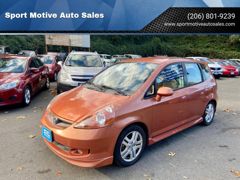 2007 Honda Fit for sale at Sport Motive Auto Sales in Seattle WA
